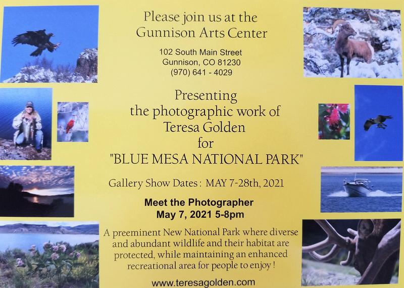 Blue Mesa National Park Back of Invitation